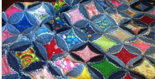 how to make a denim rag quilt