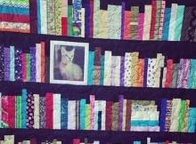 memory quilt bookshelf