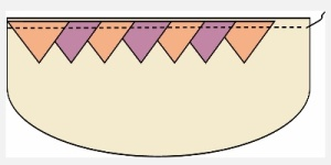 prairie points on a quilt