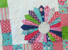 baby quilt with Dresden Plate