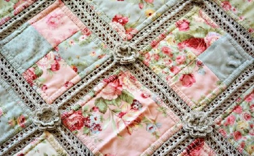 cotton yarn and fabric quilt