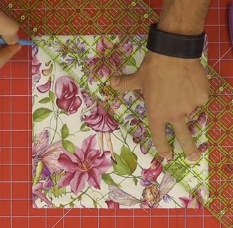 mark the chenille quilting block