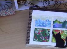 mini quilt pattern kitty in the window