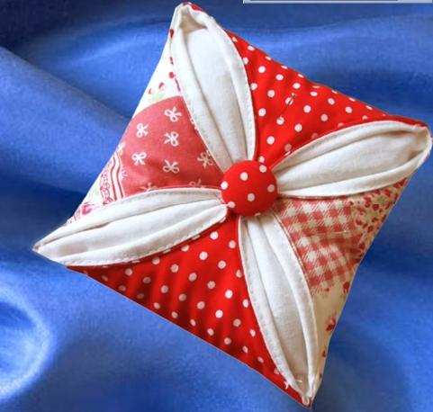 patchwork pin cushion tutorial