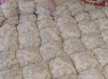 puff quilt vintage fabric