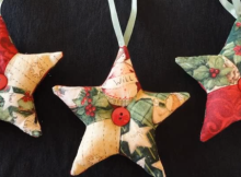quilted ornaments patchwork star