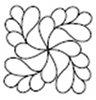 quilting stencil free flower design