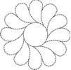 quilting stencil free round motif