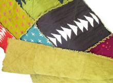 rustic rag quilt Batik