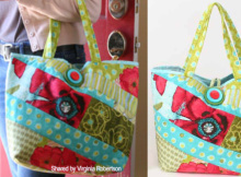 scrappy quilt tote