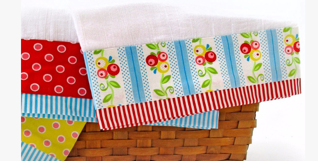 Tea Towel Borders Choose Your Prettiest Fabric Scraps ...