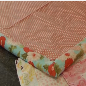 turn baby blanket fabric right side out