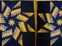 Bargello Quilt With Spinning Star
