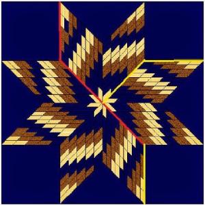 bargello quilt pattern star