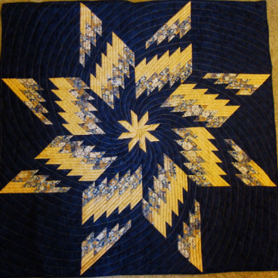 bargello quilt using a spinning star