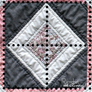 centre quilt block for baby quilt pattern