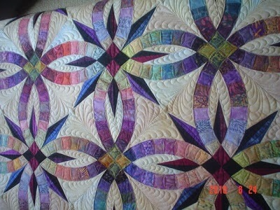 double wedding ring quilt batik colors - Double Wedding Ring Quilt Pattern