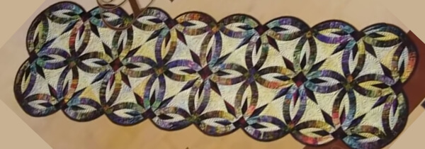 Double Wedding Rings Quilt Pattern Batik Fabric Quilting Cubby