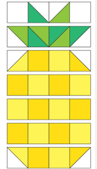 Patchwork A Pineapple Bright Mini Quilt – Quilting Cubby : pineapple quilt block pattern - Adamdwight.com