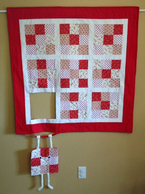 runaway quilt block hang in there