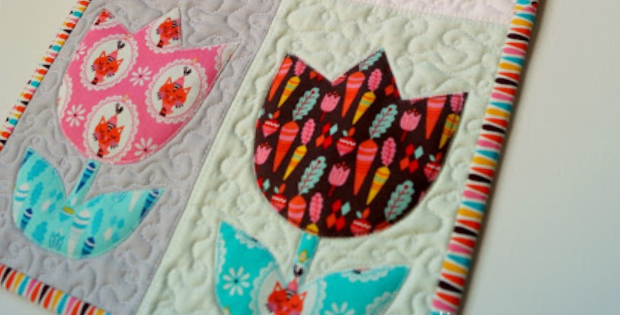 Tulip Quilt Pattern Brings A Wall Quilt To Life Quilting Cubby