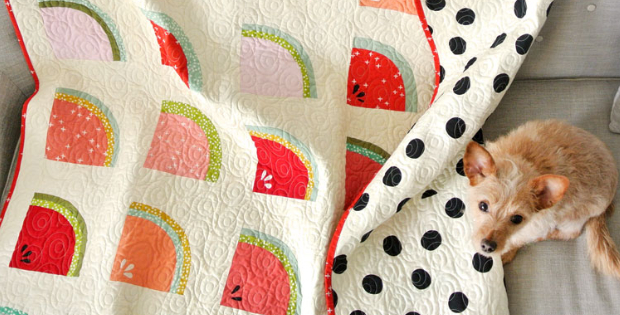 Watermelon Fabric By Design For This Adorable Quilt – Quilting Cubby : watermelon quilt - Adamdwight.com