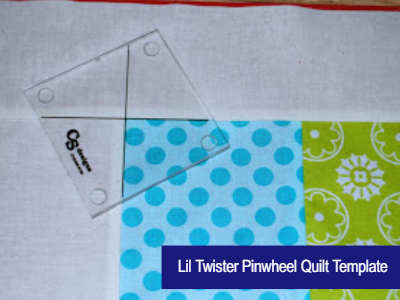 Lil Twister Pinwheel quilt template 5 inch