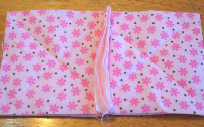 how to sew a baby raggy quilt