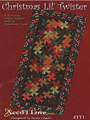 lil twister christmas table runner pattern