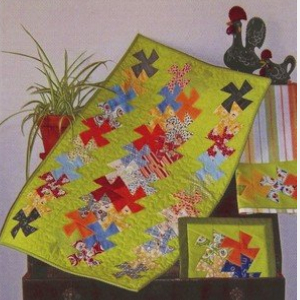 lil twister table runner kitchen quilt