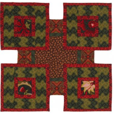 stepping stones quilt pattern table runner four block