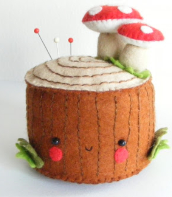 toadstool pin cushion