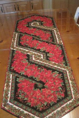Christmas border fabric table runner