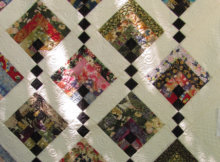 Hanging Gardens quilt Japanese fabric