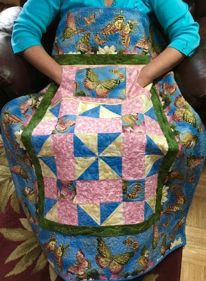 Lap quilt with pockets butterflies