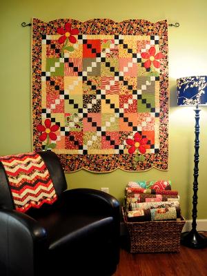 binding scallops for a wall quilt