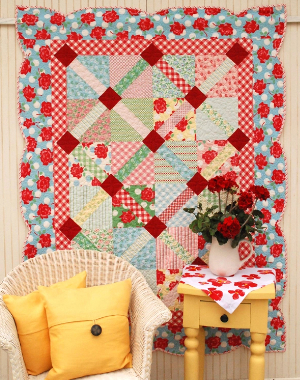 binding scallops ideas for wall quilts