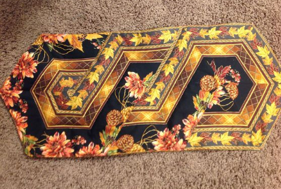 border fabric black and gold