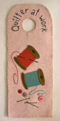 door hanger ideas for sewing