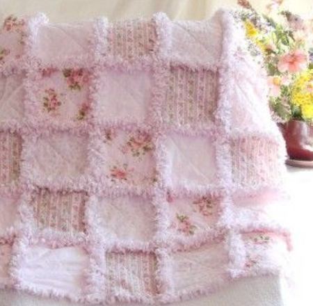 extra raggy quilt pink pastels