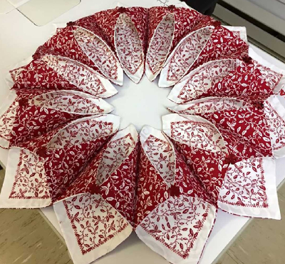 Fold And Stitch Wreath For The Faint Hearted Quilting Cubby Delectable Fold And Stitch Wreath Pattern