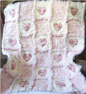 how to make a rag quilt shabby chic