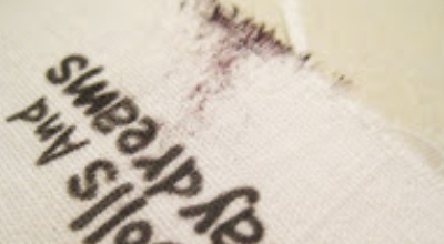 how to stop ink smudging on fabric labels