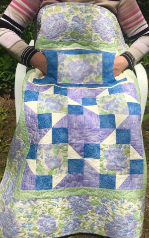 lovie lap quilts with pockets soft blue green