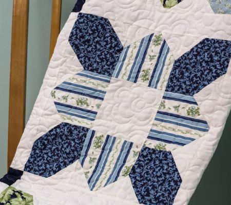 prairie flower quilt block white quilted background
