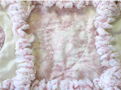 rag quilt shabby chic cottage rose fabric