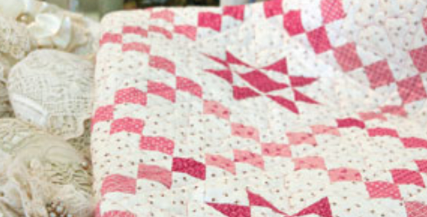 Teaberry Star Quilt That Makes A Great Weekend Of Quilting