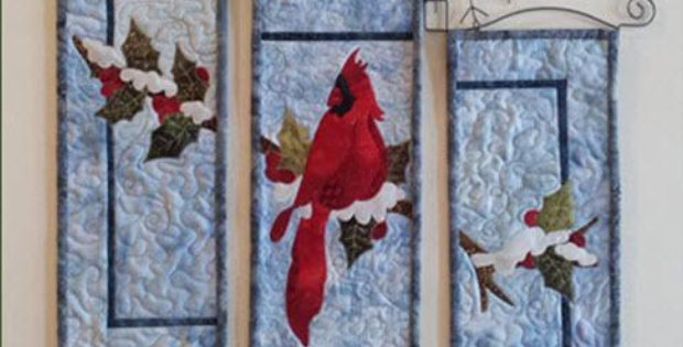 Winter Scene Wall Quilt The Beauty Of Winter Quilting Cubby