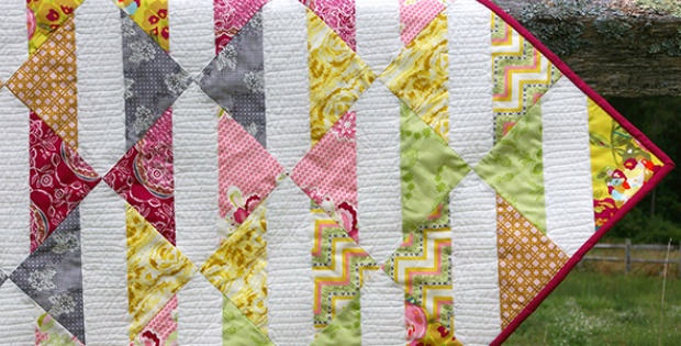 baby bows quilt spiceberry fabric binding