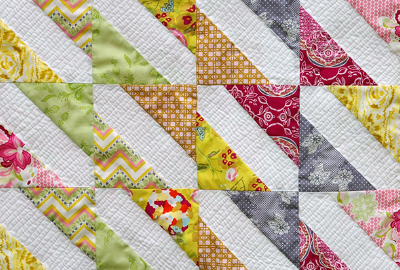 baby quilt colorful siggy block